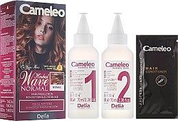 Парфюмерия и Козметика Продукт за химическо къдрене за всеки тип коса - Delia Cameleo Herbal Wave
