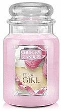 Парфюми, Парфюмерия, козметика Ароматна свещ в бурканче - Country Candle It's a Girl