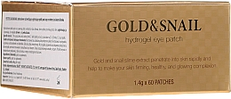 Парфюмерия и Козметика Хидрогел пачове за очи със злато и екстракт от охлюв - Petitfee & Koelf Gold & Snail Hydrogel Eye Patch