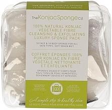 Парфюмерия и Козметика Гъби конджак - The Konjac Sponge Company Travel/Gift Sponge Bag Duo Pack 100% Pure