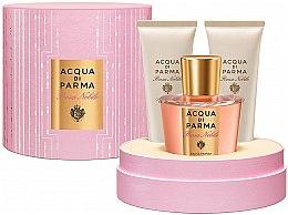 Парфюмерия и Козметика Acqua di Parma Rosa Nobile - Комплект (edc/100ml + sh/gel/75ml + b/cr/75ml)