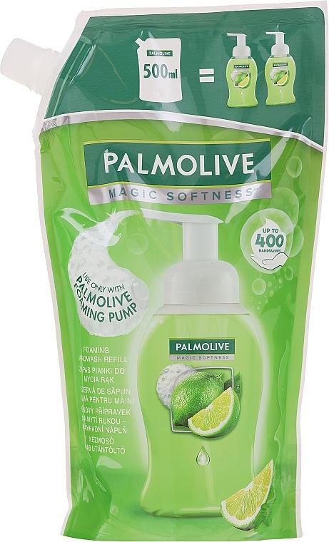 Течен сапун за ръце - Palmolive Magic Softness Foaming Handwash Lime & Mint (пълнител) — снимка N1