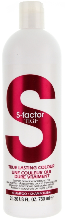 Изглаждащ шампоан за боядисана коса - Tigi True Lasting Colour Shampoo — снимка N3