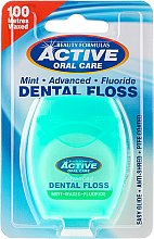 Парфюми, Парфюмерия, козметика Зъбен конец с мента - Beauty Formulas Active Oral Care Dental Floss Mint Waxed + Fluor 100m