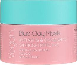 Парфюмерия и Козметика Антистарееща маска за лице със синя глина - Nacomi Blue Clay Mask Anti-Aging
