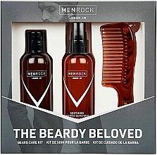 Парфюмерия и Козметика Комплект за брада - Men Rock The Beardy Beloved Starter Nourishing Set (балсам/100ml + сапун за бръснене/100ml + гребен/1бр)