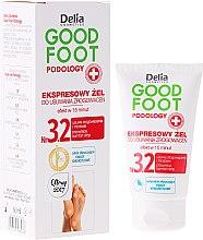 Парфюми, Парфюмерия, козметика Гел за отстраняване на мазоли и рогови клетки - Delia Cosmetics Good Foot Podology Nr 3.2