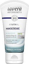 Парфюмерия и Козметика Крем за ръце - Lavera Neutral Green Ultra Sensitive Complex Hand Cream