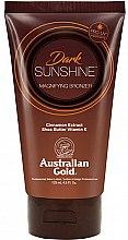 Парфюмерия и Козметика Лосион автобронзант с масло от шеа и екстракт от канела - Austraian Gold Sunscreen Dark Magnifying Bronzer Professional Lotion