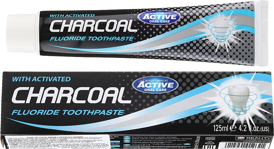 Паста за зъби с активен въглен - Beauty Formulas Charcoal Activated Fluoride Toothpaste