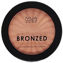 Парфюмерия и Козметика Бронзираща пудра за лице с блясък - MUA Bronzed Shimmer Bronzing Powder Solar Shimmer