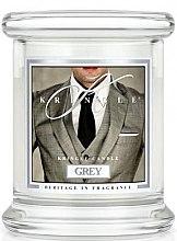 Парфюми, Парфюмерия, козметика Ароматна свещ в бурканче - Kringle Candle Grey