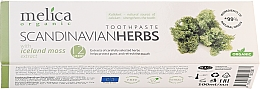 "Парфюмерия и Козметика Паста за зъби ""Лечебни Скандинавски билки"" - Melica Organic Toothpaste Scandinavian Herbs With Iceland Moss Extract"
