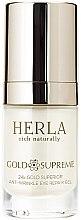 Парфюми, Парфюмерия, козметика Околоочен гел - Herla Gold Supreme 24K Gold Superior Anti-Wrinkle Eye Repair Gel