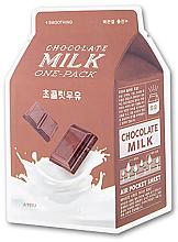 "Парфюмерия и Козметика Изглаждаща памучна маска за лице ""Шоколадово мляко"" - A'pieu Chocolate Milk One-Pack Smoothing"