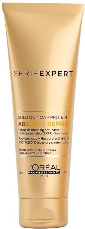 Термозащитен крем за много изтощена коса - L'Oreal Professionnel Absolut Repair Gold Qunoa+Protein Crema