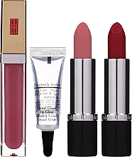 Парфюмерия и Козметика Комплект - Elizabeth Arden (lip/gloss/6.5ml + lip/gloss/6ml + lipsticks/2x3.5g + bag)