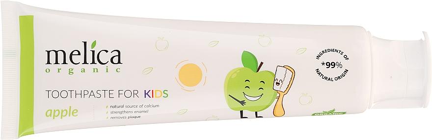 Детска паста за зъби с вкус на ябълка - Melica Organic Toothpaste For Kids Apple — снимка N4