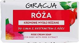 Парфюмерия и Козметика Тоалетен сапун с екстракт от роза - Gracja Rose Cream Soap With Rose Extract