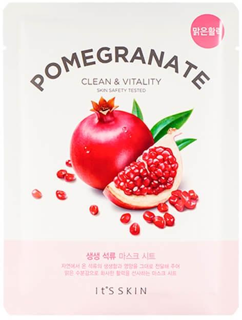 Памучна маска за лице - It's Skin The Fresh Pomegranate Mask Sheet