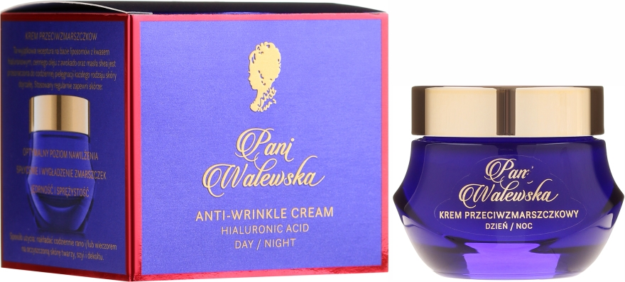 Защитен и възстановяващ крем против бръчки - Pani Walewska Classic Anti-Wrinkle Day And Night Cream