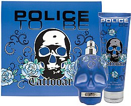 Парфюми, Парфюмерия, козметика Police To Be Tattooart For Man - Комплект (тоол. вода/75ml + шампоан/100ml)