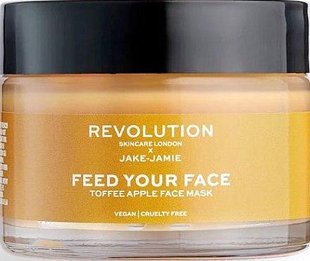 Маска за лице с екстракт от ябълка - Makeup Revolution Skincare Feed Your Face Toffee Apple Mask — снимка N1