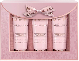 Парфюмерия и Козметика Комплект крем за ръце - Baylis & Harding Jojoba, Vanilla & Almond Oil Hand Cream Set (h/cr/50mlx3)