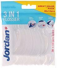 Парфюми, Парфюмерия, козметика Конец за зъби 3 в 1, 36+14 бр. - Jordan 3-in-1 Flosser Dental Stick & Tongue Cleaner