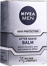 """Парфюмерия и Козметика Балсам за след бръснене антибактериален """"Сребърна защита"""" - Nivea For Men Silver Protect After Shave Balm"""