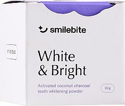 Парфюмерия и Козметика Избелващ прах за зъби с кокосов въглен - Smilebite White & Brigh Coconut Charcoal Teeth Whitening Powder