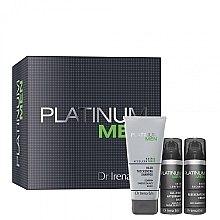 Парфюми, Парфюмерия, козметика Комплект за мъже - Dr. Irena Eris Platinum Men (балсам/50ml + крем/50ml + шампоан/125ml)