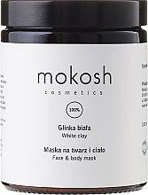 """Парфюми, Парфюмерия, козметика Маска за лице и тяло """" Бяла глина"""" - Mokosh Cosmetics White Clay Face and Body Mask"""