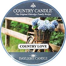 Парфюмерия и Козметика Чаена свещ - Country Candle Country Love
