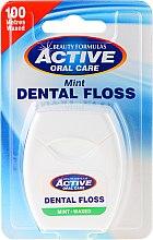 Парфюми, Парфюмерия, козметика Зъбен конец с аромат на мента - Beauty Formulas Active Oral Care Dental Floss Mint Waxed 100m