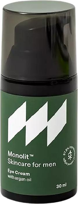 Околоочен крем с арганово масло - Monolit Skincare For Men Eye Cream With Argan Oil — снимка N1