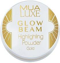 Парфюмерия и Козметика Пудра-хайлайтър за лице - MUA Luxe Glow Beam Highlighting Powder