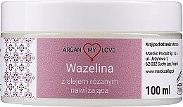 Парфюмерия и Козметика Вазелин с розово масло за лице и тяло - Argan My Love