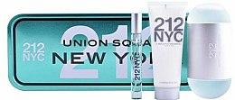 Парфюми, Парфюмерия, козметика Carolina Herrera 212 NYC Gift Set - Комплект (тоал. вода/100ml + лос. за тяло/75ml + тоал. вода/10ml)