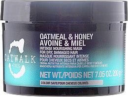 Парфюмерия и Козметика Възстановяваща маска за коса - Tigi Catwalk Oatmeal & Honey Nourishing Mask