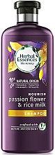 Парфюми, Парфюмерия, козметика Хидратиращ шампоан за суха и увредена коса - Herbal Essences Passion Flower & Rice Milk Shampoo