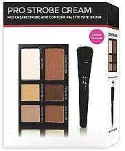 Парфюми, Парфюмерия, козметика Палитри за контуриране на лице - Freedom Makeup London Pro Cream Strobe Palette With Brush