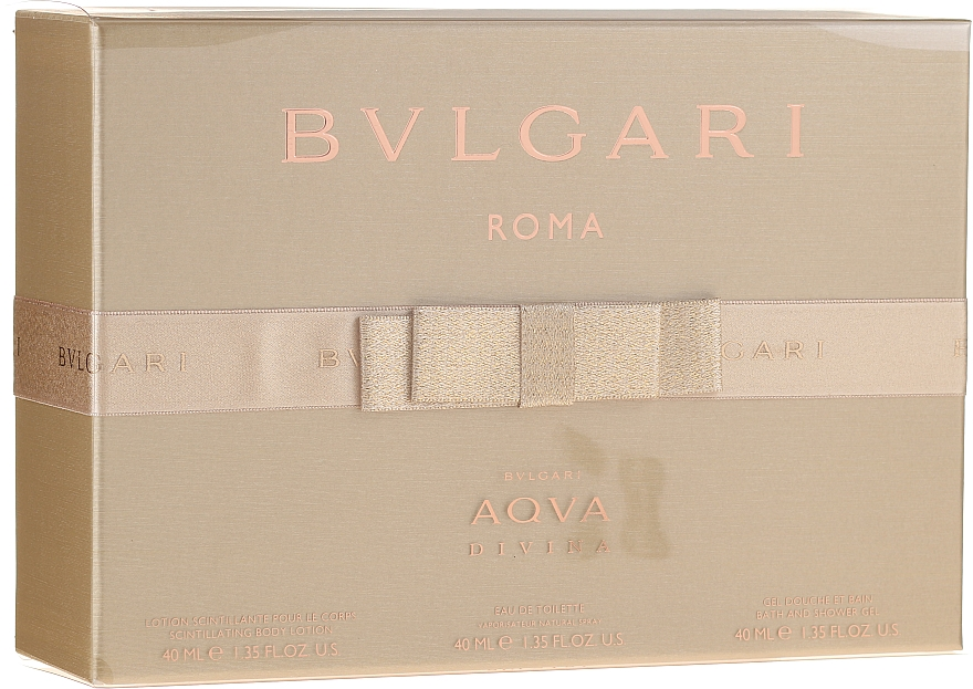 Bvlgari Aqva Divina - Комплект (тоал. вода/40ml + лосион за тяло/40ml + душ гел/40ml) — снимка N1