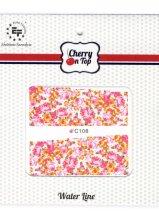 Парфюми, Парфюмерия, козметика Водни лепенки за нокти, C108 - Euro Fashion Cherry On Top Water Line