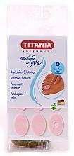 Парфюмерия и Козметика Защитни лепенки за палеца на крака срещу мазоли, 9 бр. - Titania
