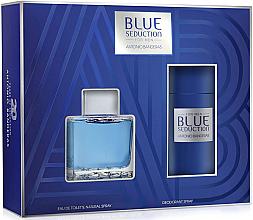 Парфюми, Парфюмерия, козметика Blue Seduction Antonio Banderas - Комплект (тоал. вода/100ml + део/150ml)