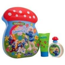 Парфюмерия и Козметика Marmol & Son The Smurfs Grouchy - Комплект (тоал. вода/50ml + пяна за вана/75ml)
