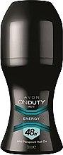 Парфюми, Парфюмерия, козметика Дезодорант-антиперспирант - Avon On Duty Men Energy Antiperspirant Roll-On