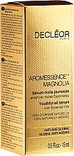 Парфюми, Парфюмерия, козметика Подмладяващ серум с етерично масло от магнолия - Decleor Aromessence Magnolia Youthful Oil Serum