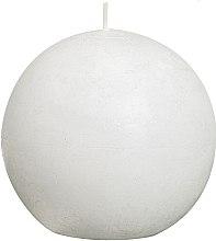 Парфюми, Парфюмерия, козметика Ароматна кръгла свещ, бяла, 80 мм - Bolsius Ball Candle Rustic